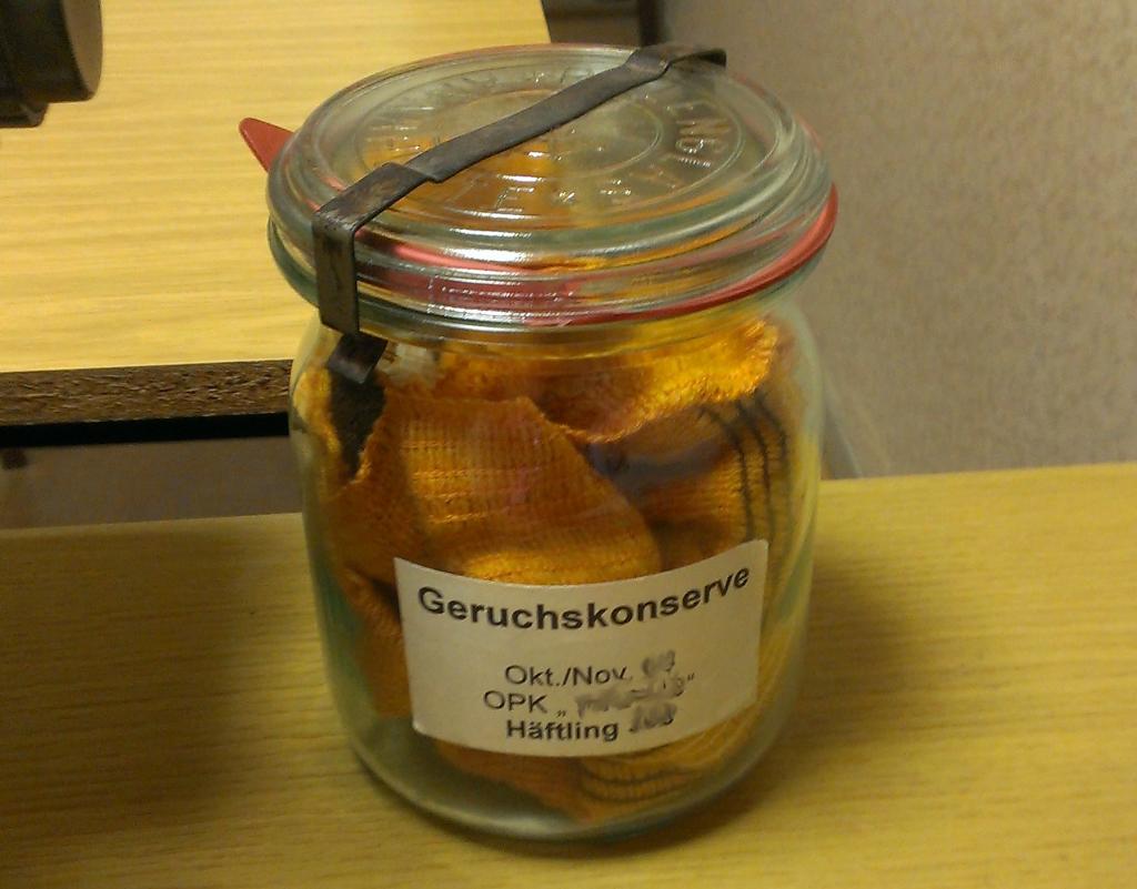 Geruchskonserve in der Gedenkstätte Bautzner Straße Dresden