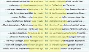 """Kollokationsanalyse zum Wort """"Zeit"""""""