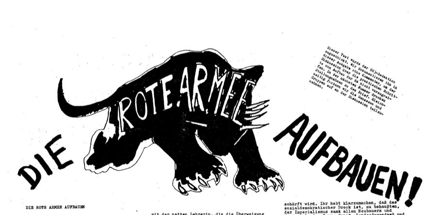 """Titelei des Textes """"Die Rote Armee aufbauen"""" aus agit883, Nr. 62 vom 05.06.1970"""